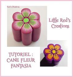 [Tuto polymère #2] Cane fleur fantasia - Polymer clay flower cane tutorial