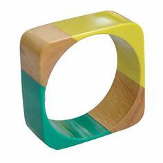 I have one of these and I LOVE IT! La Rambla Sq Puzzle Bangle-Mineral...perfect for Australia Day!!!!