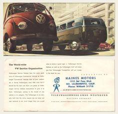 1953/54 Volkswagen Bus Brochure