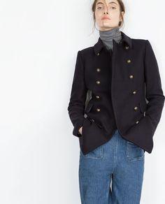 BUTTON COAT-Coats-WOMAN | ZARA United States