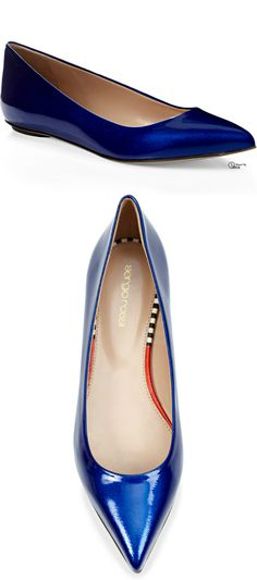 Sergio Rossi ● 2014, Godiva Patent Leather Flats