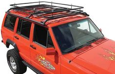 New for the Cherokee is the Olympic Top Hat Rack. New design features tubular side rails that extend over the top of the vehicle to provide additional protection when wheeling. Basket is perfect for carrying your gear no matter what the situation.