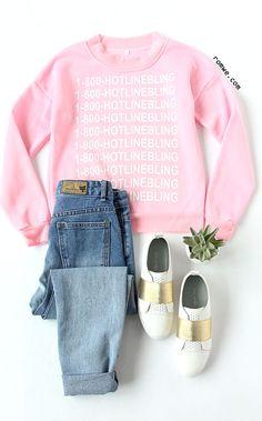 Pink Letter Print Raglan Sleeve Sweatshirt