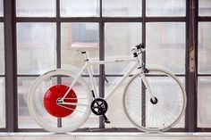 Developed at MIT, the Copenhagen wheel can turn any bike into an electric hybrid.