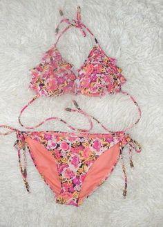 Kup mój przedmiot na #Vinted http://www.vinted.pl/kobiety/inne-ubrania/9828433-wiazane-bikini-floral-38-falbanki