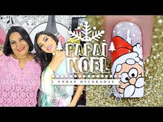 Unhas Decoradas Passo a Passo com Flores para Natal (nail art tutorial) | Cola na Villar - YouTube
