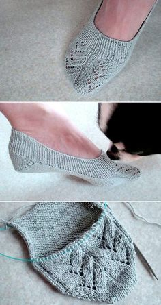 Insole Slippers/ Lace - Free Pattern Free Knitting Pattern Always aspired to be able to knit, nonetheless not certain how to start? This kind of Complete Beg. Easy Knitting, Knitting Patterns Free, Knitting Socks, Crochet Patterns, Free Pattern, Knit Socks, Knitted Slippers, Crochet Slippers, Knit Or Crochet