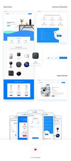 iFixers Website Redesign on Behance