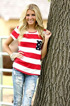 Bring Me Home Pocket Top - Fourth 4th of July outfit idea Modern Vintage Boutique