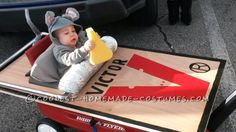 I found some ideas online for a Halloween costume for my son that was made from plywood turning a regular radio flyer wagon into a mouse trap just big...