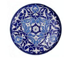 Iznik Ceramic Metalwork Plate