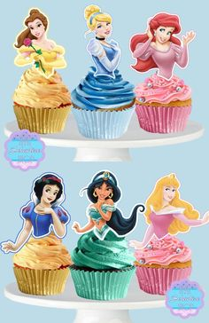 Your place to buy and sell all things handmade Princess Cupcake Toppers, Cupcake Toppers Free, Cupcake Picks, Cupcake Cakes, Rose Cupcake, Cup Cakes, Cupcakes Princesas, Disney Princess Birthday Cakes, Ladybug Cupcakes