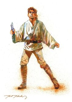 Star Wars Luke Skywalker art by Mark McHaley Star Wars Luke, Star Wars Jedi, Star Wars Art, Star Trek, Sith, Star Wars Episode Iv, Cinema, Star War 3, Luke Skywalker