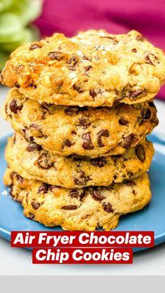 Air Fryer Recipes Snacks, Air Frier Recipes, Air Fryer Dinner Recipes, Low Carb Dinner Recipes, Snack Recipes, Dessert Recipes, Baking Recipes, Cookie Recipes, Air Fryer Healthy