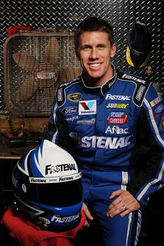 Carl Edwards, until I saw him on the Sara Evans video and then it was CARL EDWARDS. all caps.