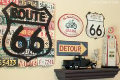 Route 66 Nursery - forget nursery!! David would take this room now! :)