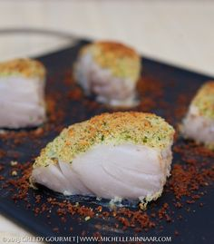 Baked Cod with a Parmesan and Parsley Crust // this was VERY tasty, though my cod fillets were nowhere near as lushly thick as the recipe writers! So easy to make, I will definitely do it again.