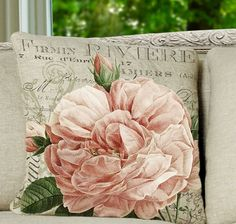 Romantic rose pillow