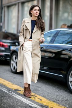 Tan, taupe, and camel color coats are a must have for the cold season.