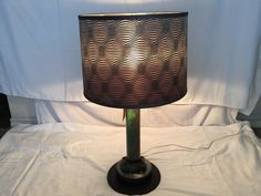 Industrial style table lamp made out of a recycled steel and pipes.