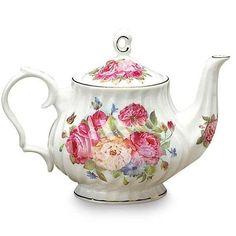 Sandra's Rose Bone China Teapot