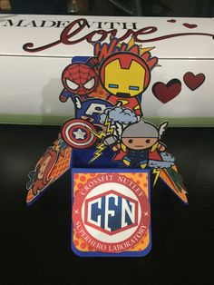 A little Super Hero thank you card for the awesome owners of Crossfit Nutley.