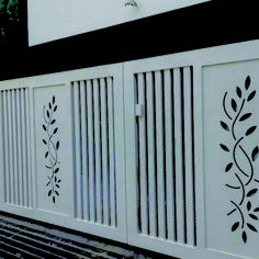You will get CNC vector file for this design Compound Wall Gate Design, Gate Wall Design, Home Gate Design, Grill Gate Design, Front Wall Design, House Main Gates Design, Steel Gate Design, Iron Gate Design, Modern Front Gate Design