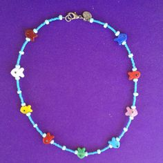 Glass Fish 16 inch Beaded Necklace by AnnPedenJewelry on Etsy, $12.99