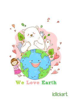 0422 지구의 날 입니다. :) 오늘은 환경 보호를 위해 할 수 있는 일이 무엇이 있을 지 생각해 보는것도 좋겠군요. #EarthDay #iclickart