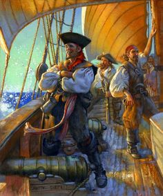 On The Account ~ Don Maiz Pirate Art, Pirate Life, Pirate Ships, Pirate Theme, Jolly Roger, Howard Pyle, Golden Age Of Piracy, Treasure Island, Royal Navy