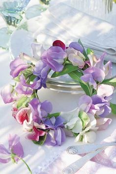 "Happy Wednesday. Thanks for the theme sweet Belinda ♥ Today let's do a ""Sweet Pea Cottage"" inside & out in pink, lavender & white. ♥♥ ~Dee"