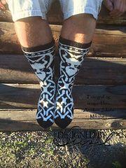 Berserk sokker pattern by Sissel Marie Johansen