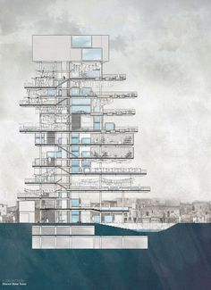 Informal Urbanism - Dharavi Water Tower by Lawson Lai, via Behance