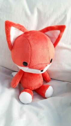 """LOVE this fox plushies but hate the orange (the panda """"hazelnut"""" color would go much better for a fox)"""