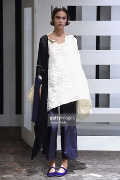 A model walks the runway during the Daniela Gregis fashion show as part of Milan Fashion Week Spring/Summer 2016 on September 24, 2015 in Milan, Italy.