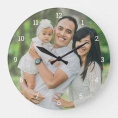 Shop Custom Family Photo Overlay Large Clock created by UniquePhotoGifts. Photo Wall Clocks, Wall Clock Gift, Photo Clock, Wall Clock With Pictures, Paisley Art, Best Housewarming Gifts, Unique Christmas Gifts, Christmas Presents, Holiday Decor