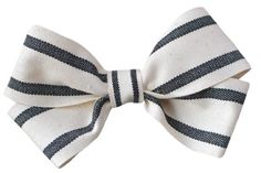 """French translation: """"Why, of course!"""" (I added the 'why' for emphasis...) Inspired by vintage French textiles, why, of course! this bow will look tres charmante in your hair--or the hair of your little underling. Ribbon is 90% cotton. Feels it, too. Remarkable quality, remarkable beauty."""