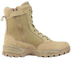 Desert military combat boots