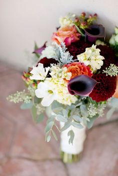 fall wedding bouquet by Fleur de lis Florist