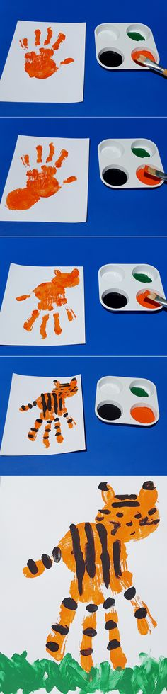 WILD CRAFTS: DIY HANDPRINT TIGER:  Just in time for Global Tiger Day on June 29, here's how to make a tiger that can live in your home! Gather the kids and create your own handprint tiger, as a reminder that everyone must lend a hand to help save these amazing big cats.