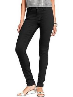 Womens The Rockstar Black High-Rise Super Skinny Jeans in Tall- Tried these on and loved them but they didnt have long inseam in store- GET THESE!