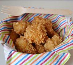 bocconcini di pollo in crosta di mandorle