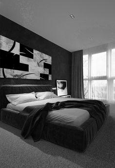 Original Abstract Painting Print Modern Abstract Art Home Black And Grey Bedroom, Black Bedroom Design, Home Room Design, Black Room Decor, Black Rooms, Mens Room Decor, Room Decor For Guys, Bedroom Setup, Room Ideas Bedroom