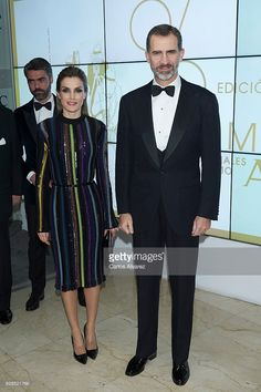 King Felipe VI of Spain and Queen Letizia of Spain attend a dinner in honour of 'Mariano de Cavia', 'Mingote' and 'Luca de Tena' awards winners at ABC on December 13, 2016 in Madrid, Spain.  (Photo by Carlos Alvarez/Getty Images)