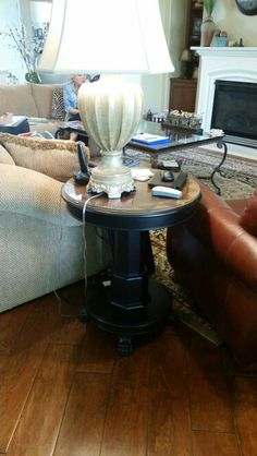 Side table and lamp, open to change