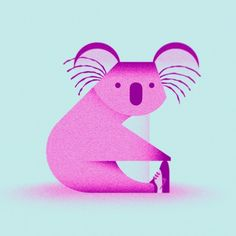 koala designed by Simone Noronha. Connect with them on Dribbble; Koala Illustration, Simple Illustration, Travel Illustration, Gig Poster, Australian Nursery, Kids Graphics, Motion Graphics, Indie, Ipad Art