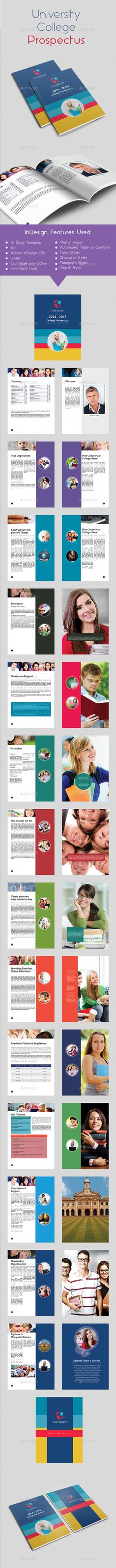 College  University Brochures Templates  Graphic Designs