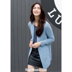 Modele de veste a tricoter femme