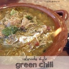Enjoy the taste of Colorado with this easy Colorado Style Green Chili Recipe Estes Park Colorado, Aspen Colorado, Denver Colorado, Colorado Springs, Chile Colorado, Pork Recipes, Mexican Food Recipes, Cooking Recipes, Recipies