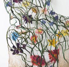 Des Corps de Textiles révèlent des Systèmes ramifiés de Veines, de Fleurs et de Racines (3)